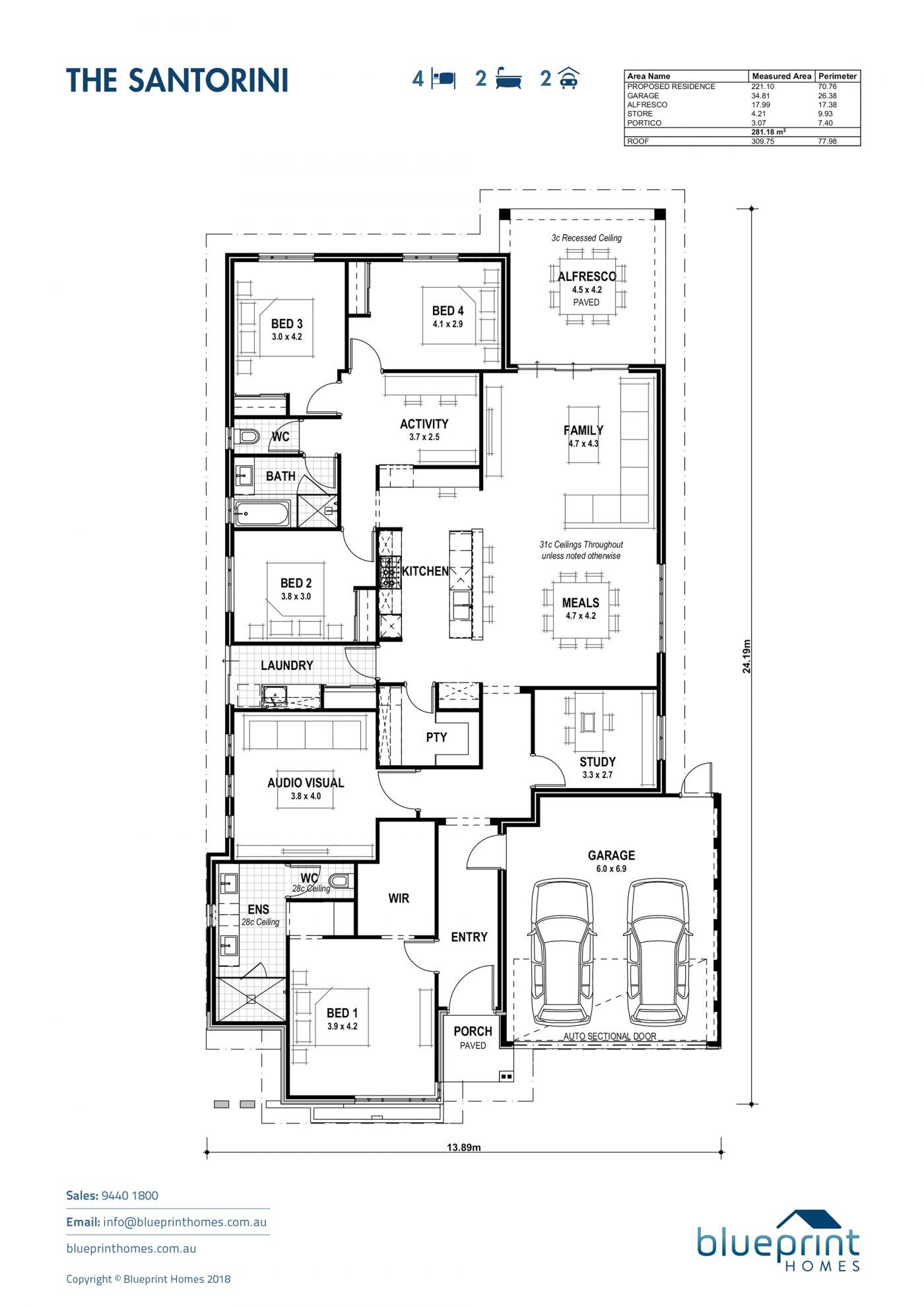 The Santorini Perth Ex Display Home In 2020 House Blueprints Display Homes Best House Plans