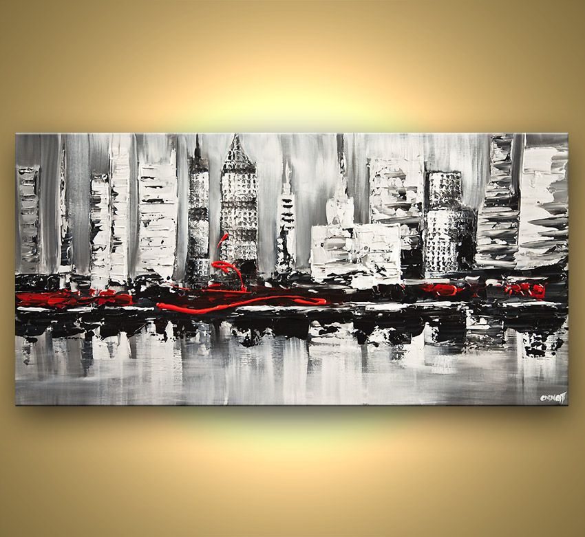 Cityscape Painting - City Shore #6837