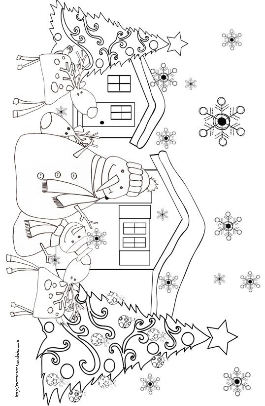 Coloriages des rennes de Nol  Christmas colors Embroidery and