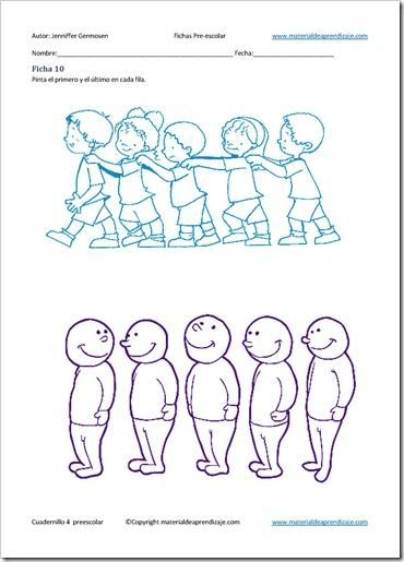 Primero Y último Ficha 10 4 Paperblog Fichas Preescolar Educación Física Preescolar