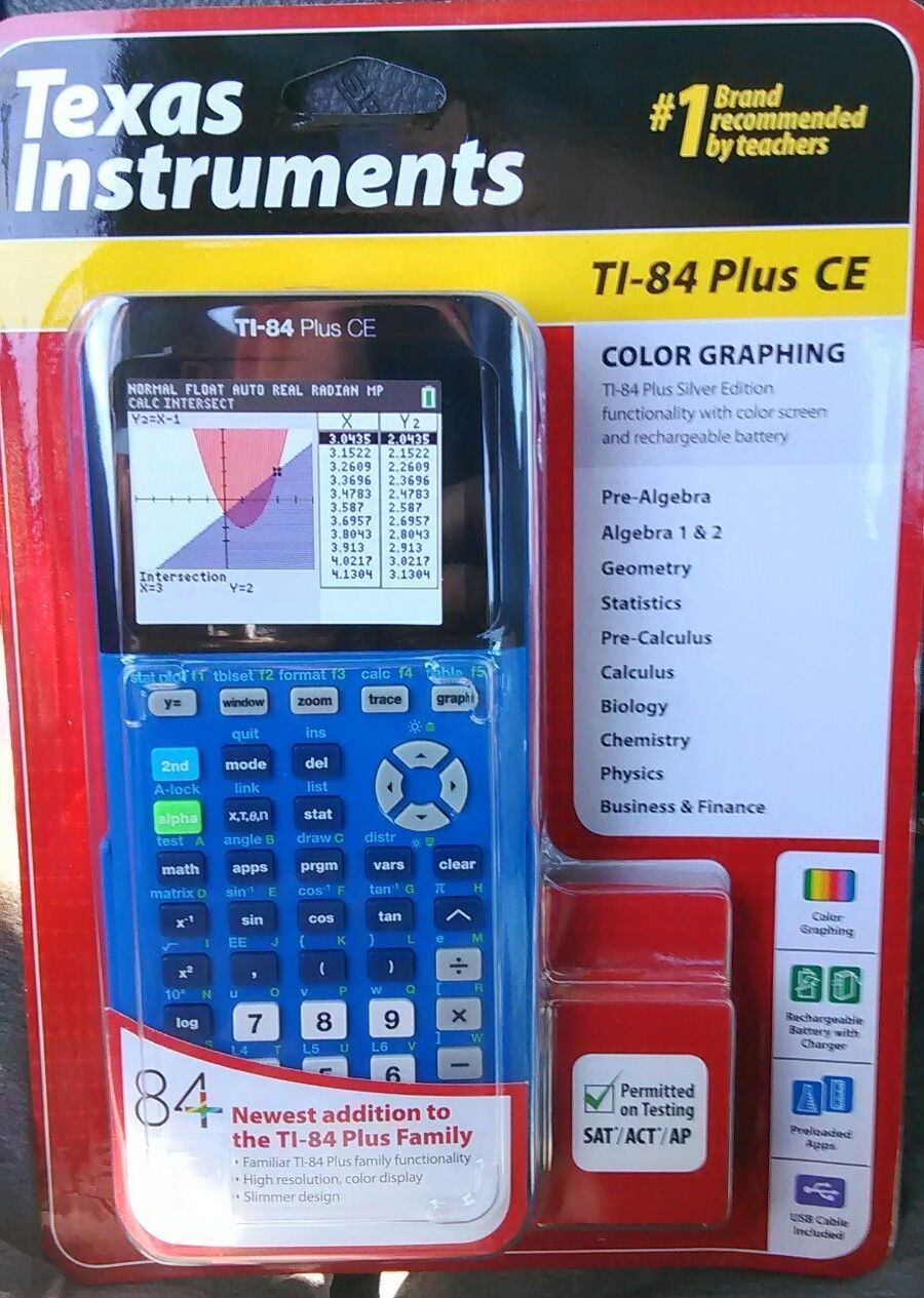Texas Instruments TI-84 Plus CE Color Screen Graphing