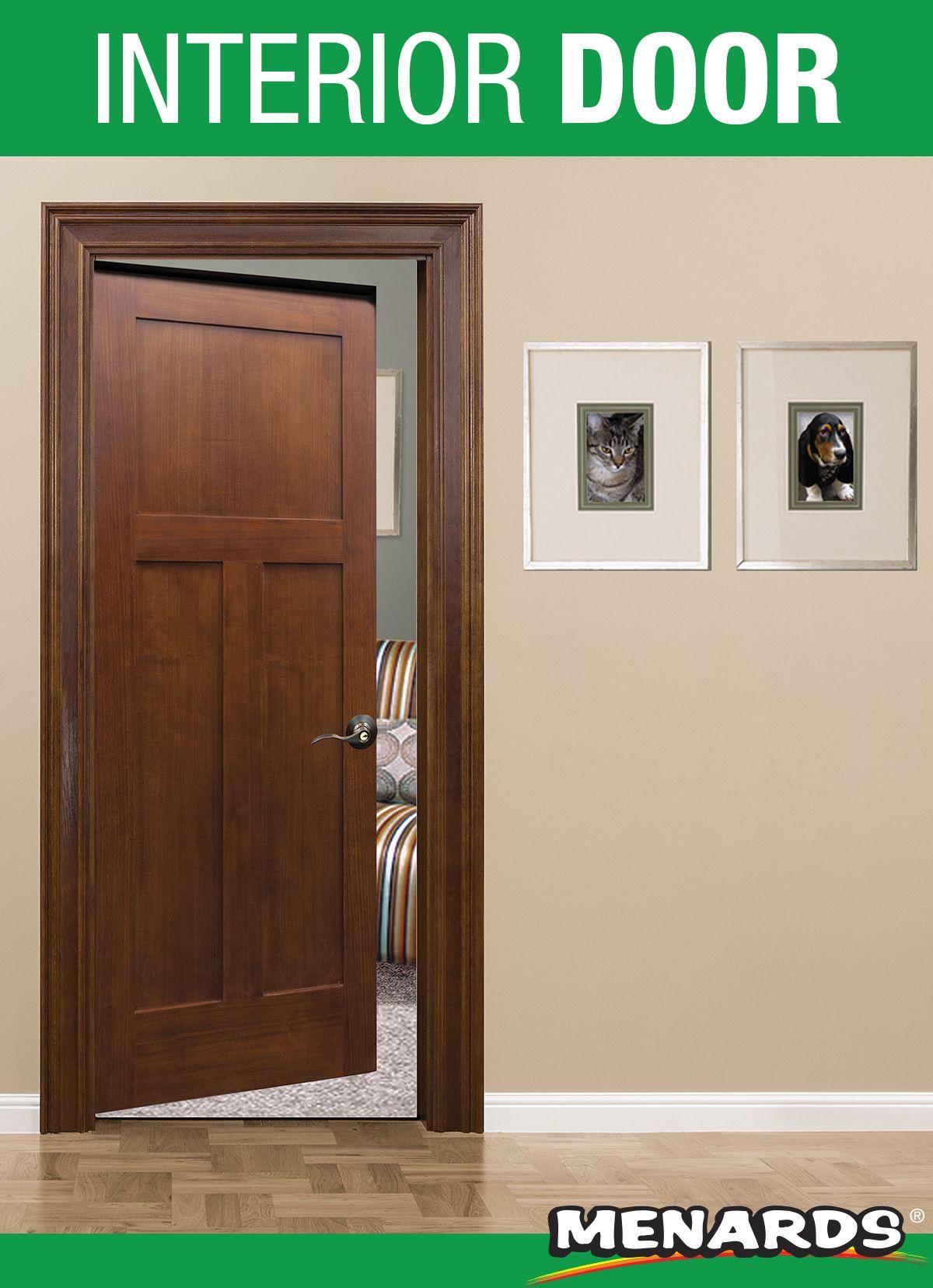 This threepanel poplar door from Mastercraft offers the