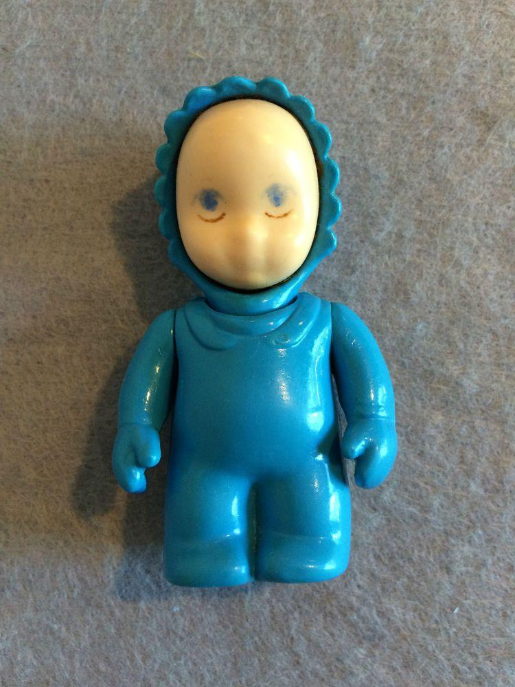 Little Tikes Dollhouse Miniature Baby Doll Blue Ebay