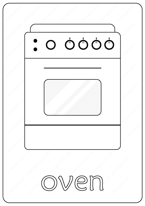 Printable Oven Coloring Page Book Pdf Coloring Pages Coloring Books Free Coloring Pages