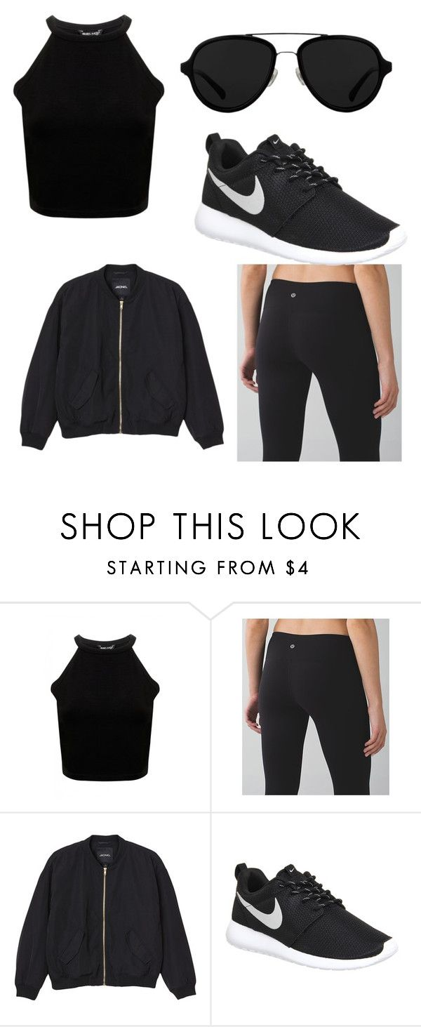 """"""".."""" by rachelsi on Polyvore featuring lululemon, Monki, NIKE and 3.1 Phillip Lim"""