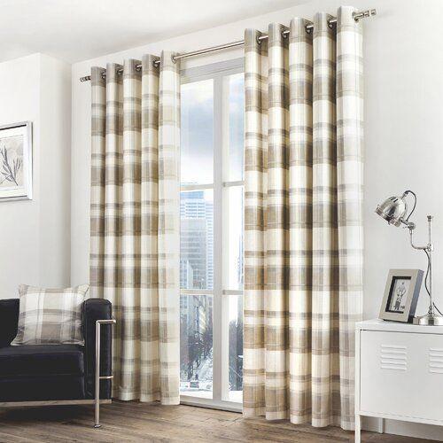Vorhang-Set Screven mit Ösen, blickdicht Alpen Home Größe: 117 B x 137 H cm, Farbe: Pflaume
