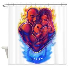 Black Love Shower Curtain Curtains Custom Design Store