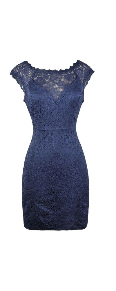 1b3de8e6e22 Lily Boutique Perfect Occasion Lace Pencil Dress in Royal Blue