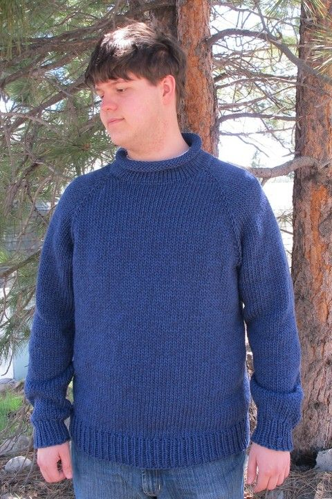 Knitting Pure And Simple 1110 Bulky Neckdown Pullover For Men