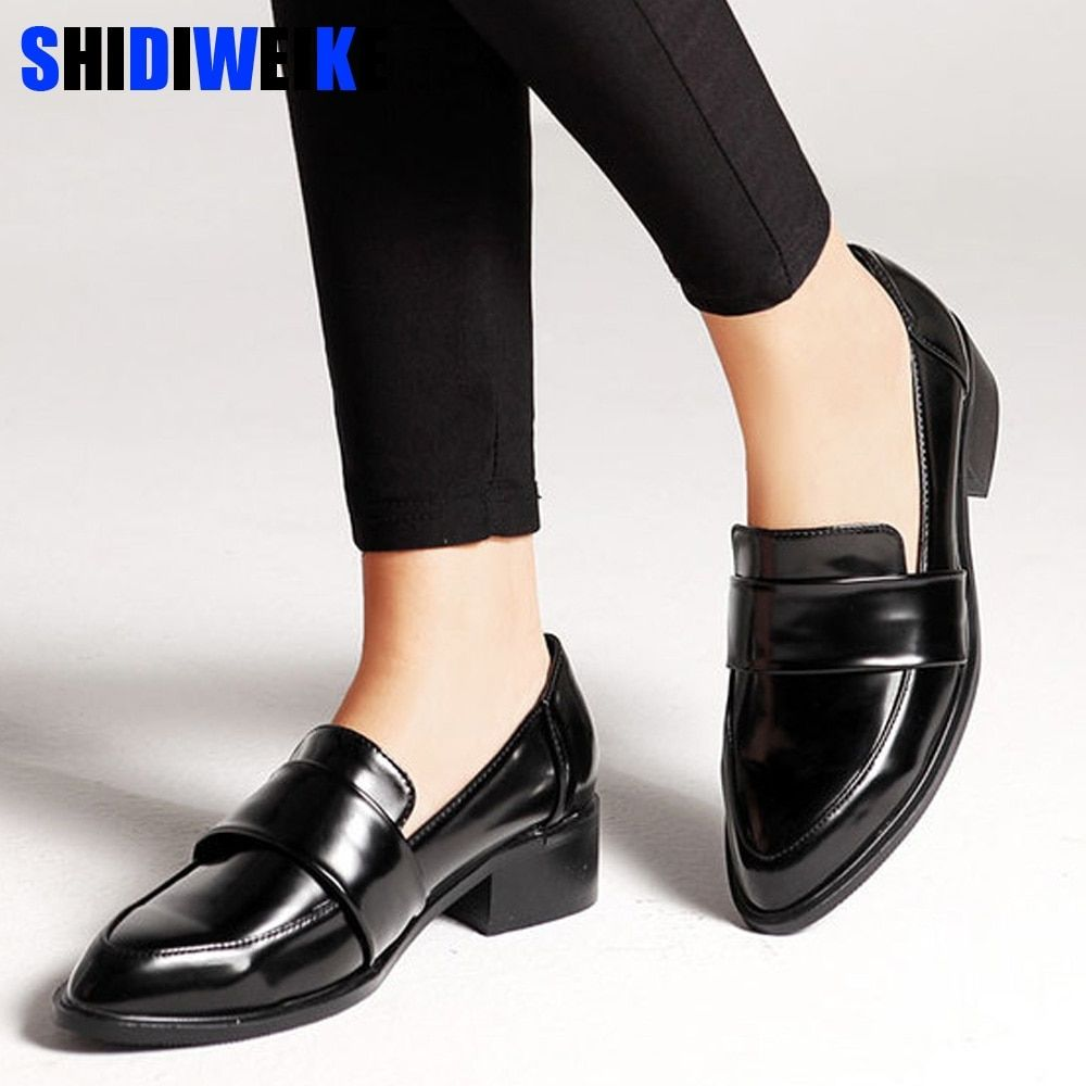 Women Dress Shoes Oxford Shoes Formal Work Footwear Black Flats Slip On Retro Shoes Leather Women Shoes Loafers G140 Dress Shoes Womens Leather Shoes Woman Black Formal Shoes [ 1000 x 1000 Pixel ]