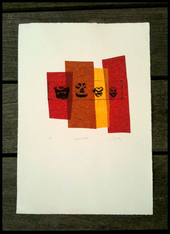 Original handpulled chinecollée photo etching by Inktwice on Etsy, £30.00