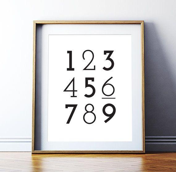 Art Digital Print Poster Number Print