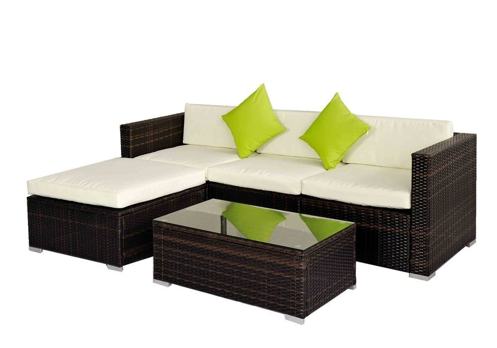 Garden Rattan Furniture Sale Outdoor rattan set 5 pcs sofa wicker sectional garden patio outdoor rattan set 5 pcs sofa wicker sectional garden patio furniture broyerk workwithnaturefo