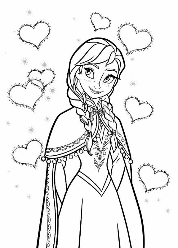 アナと雪の女王frozenぬりえ1 ミツキmaウスの小さな世界
