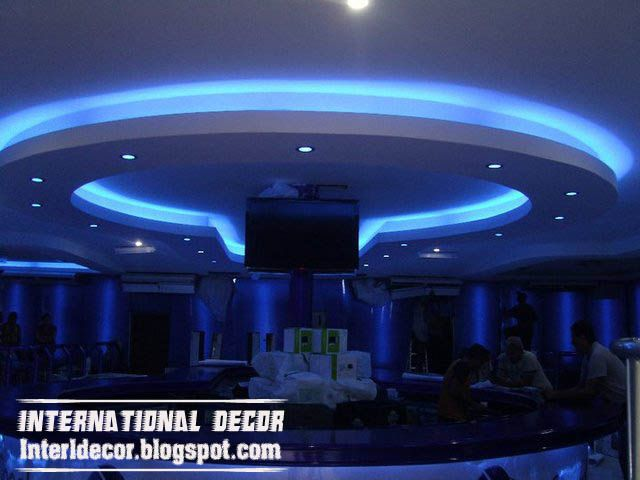 Buscar con google arquitectura de iluminacion ligthing false gypsum ceilings designs with blue ceiling lighting ideas for living room mozeypictures Image collections