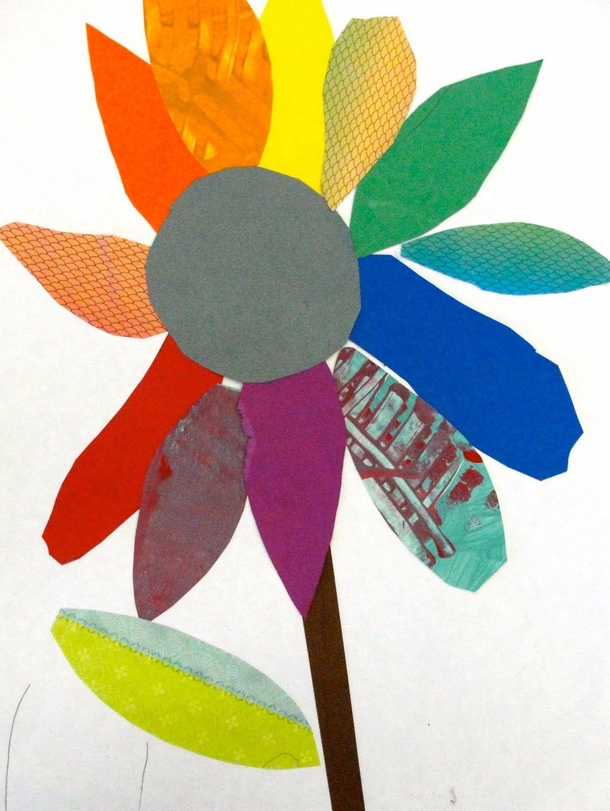 Color wheel art projects for kids - Colorwheel Bouquet Art Lesson