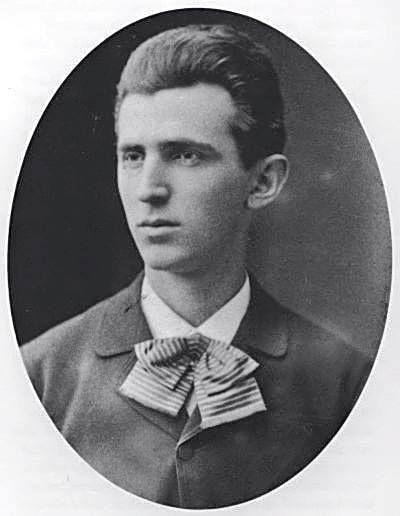 Nikola Tesla aged 23, c. 1879
