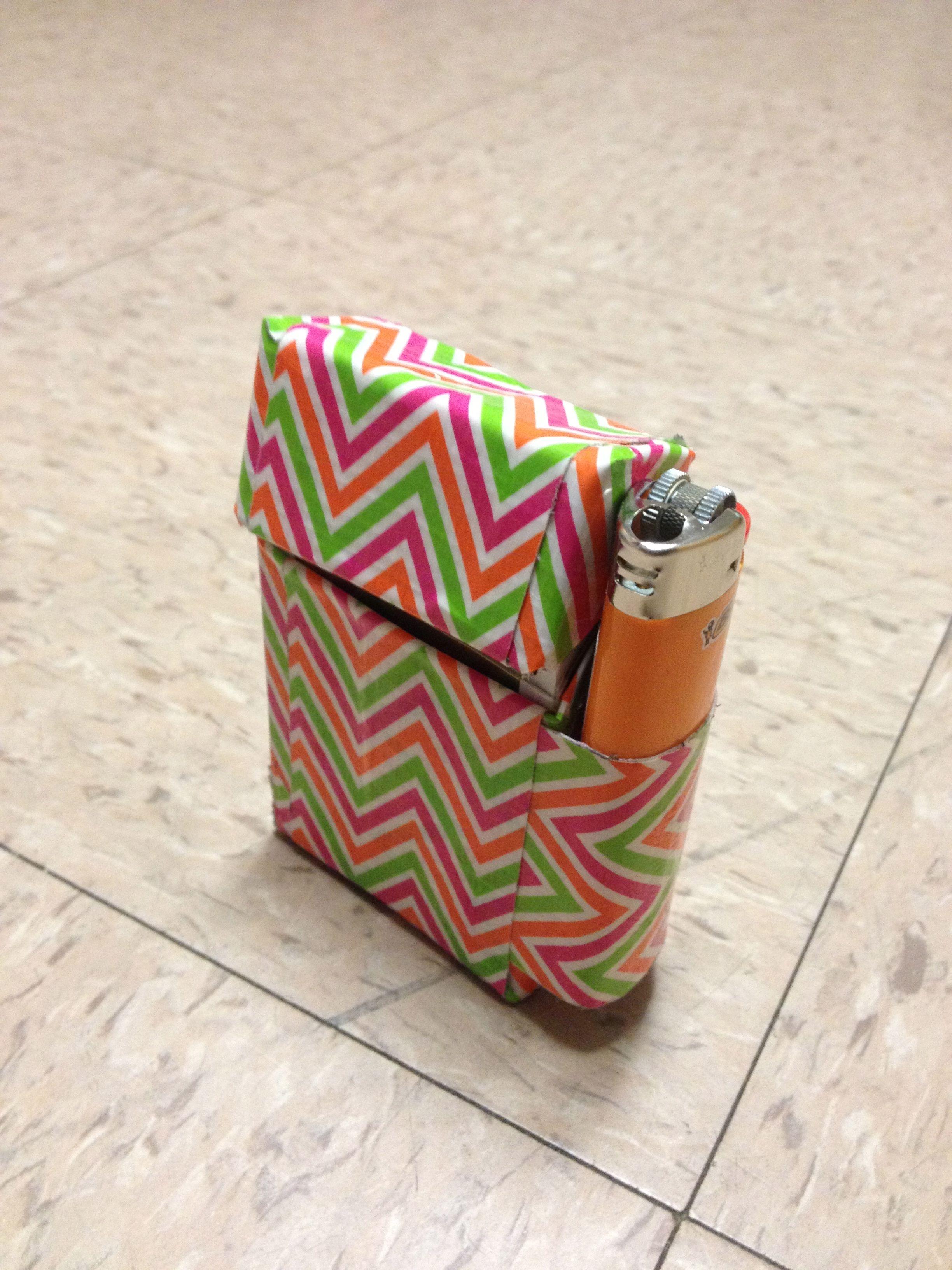 chevron cigarette case