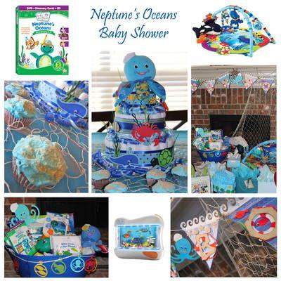 Neptunes Oceans Baby Shower Aquatic Party Ideas Pinterest
