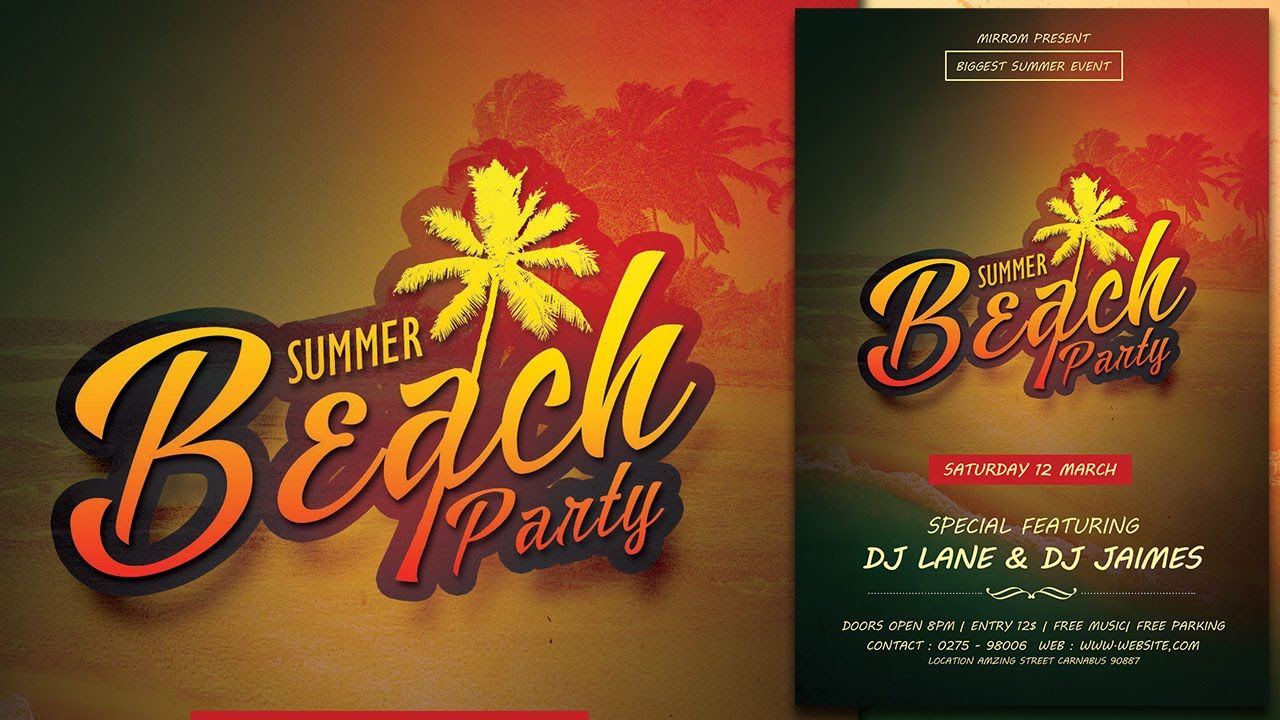 Create a Summer Beach Party Flyer In Photoshop | 20/03 - PHOTOSHOP ...