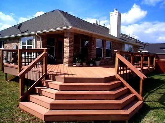 Houses With Wrap Around Decks Wrap Around Deck With Stairs Deck Stairs Wrap Around Deck Deck Pictures