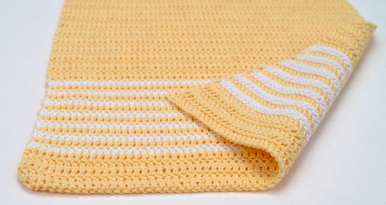 Simple Striped Cotton Kitchen Towel Crochet Pattern by ...