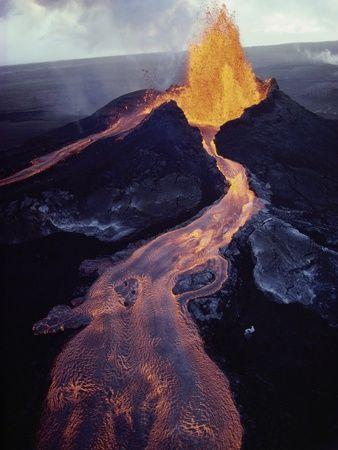 Kilauea Volcano Erupting Photographic Print at AllPosters.com