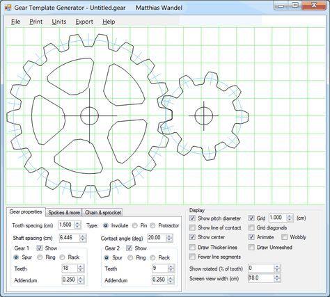 gear template generator program cnc ideas in 2018 pinterest