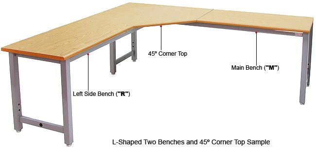 Exceptional L Shaped Table With 45 Deg Corner Top
