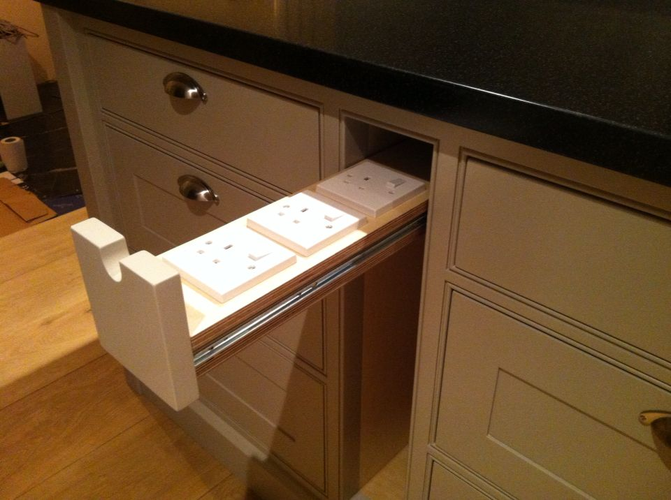 Pull out plug socket draw for kitchen island unit. & Pull out plug socket draw for kitchen island unit. | Home ...
