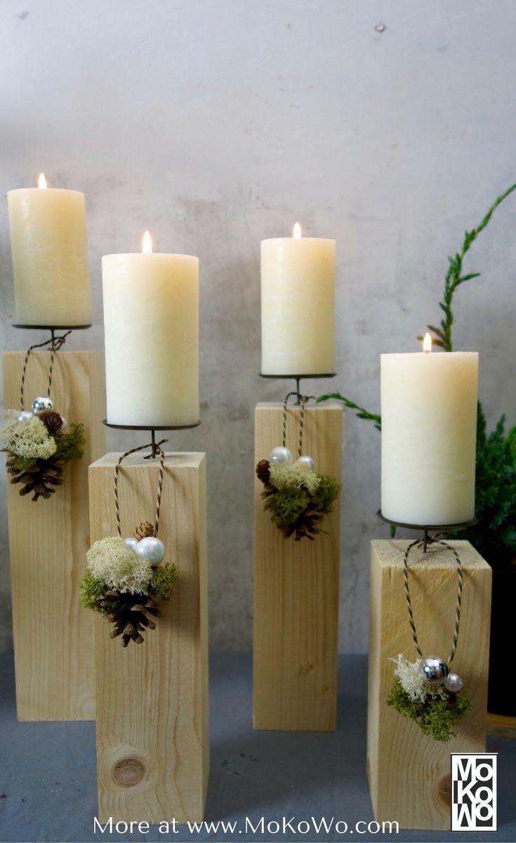 Ideen außergewöhnliche Adventskränze DIY - MoKoWo Wohnblog #holzideen