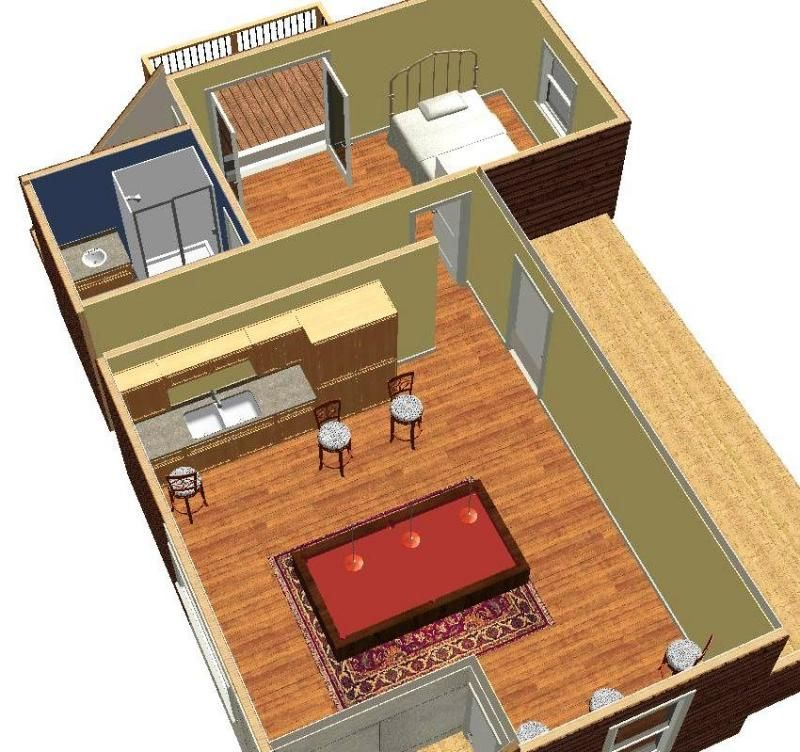 In law guest apartment adjoining the garage tiny homes for Double garage with room above