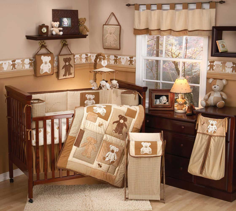 Eddie Bauer Teddy Bear Nursery Baby Darren Baby Crib