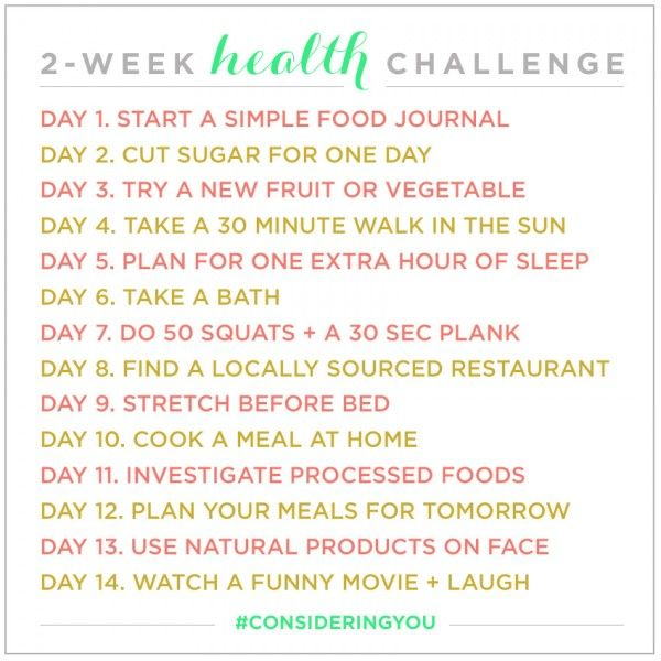 One week health challenge