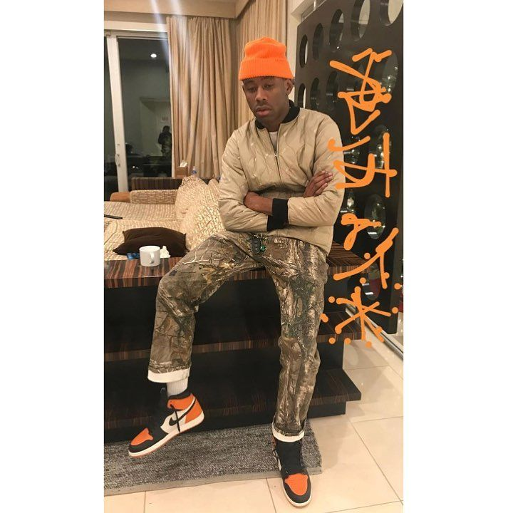 2f79b7fea25c ... shop tyler the creator wearing air jordan 1 shattered backboard weird  seeing tyler in jordans but