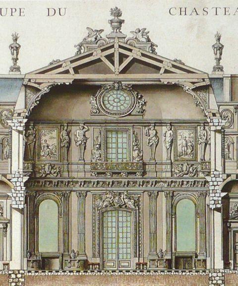 Fig. 5 : Le Salon, Coupe Du Pavillon Royal Du Château De
