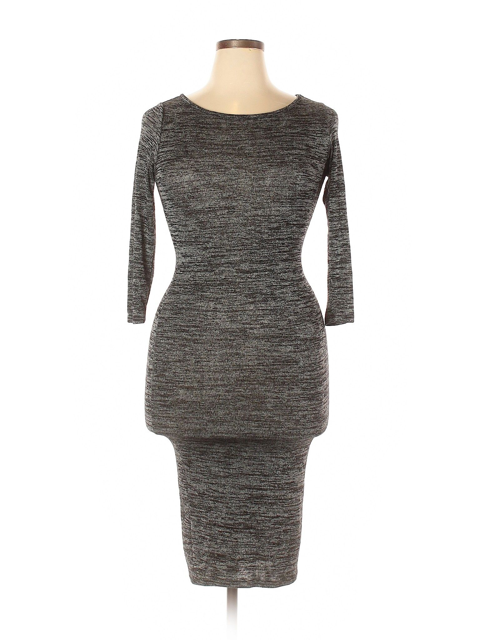 Forever 21 Casual Dress Party Gray Solid Dresses Used Size Large Sweater Dress Women Clothes Forever 21 Sweater Dress [ 2048 x 1536 Pixel ]