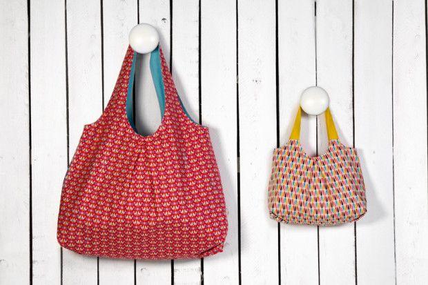 Tasche nähen - Anleitung | Taschen nähen, Kostenlos und Schnittmuster