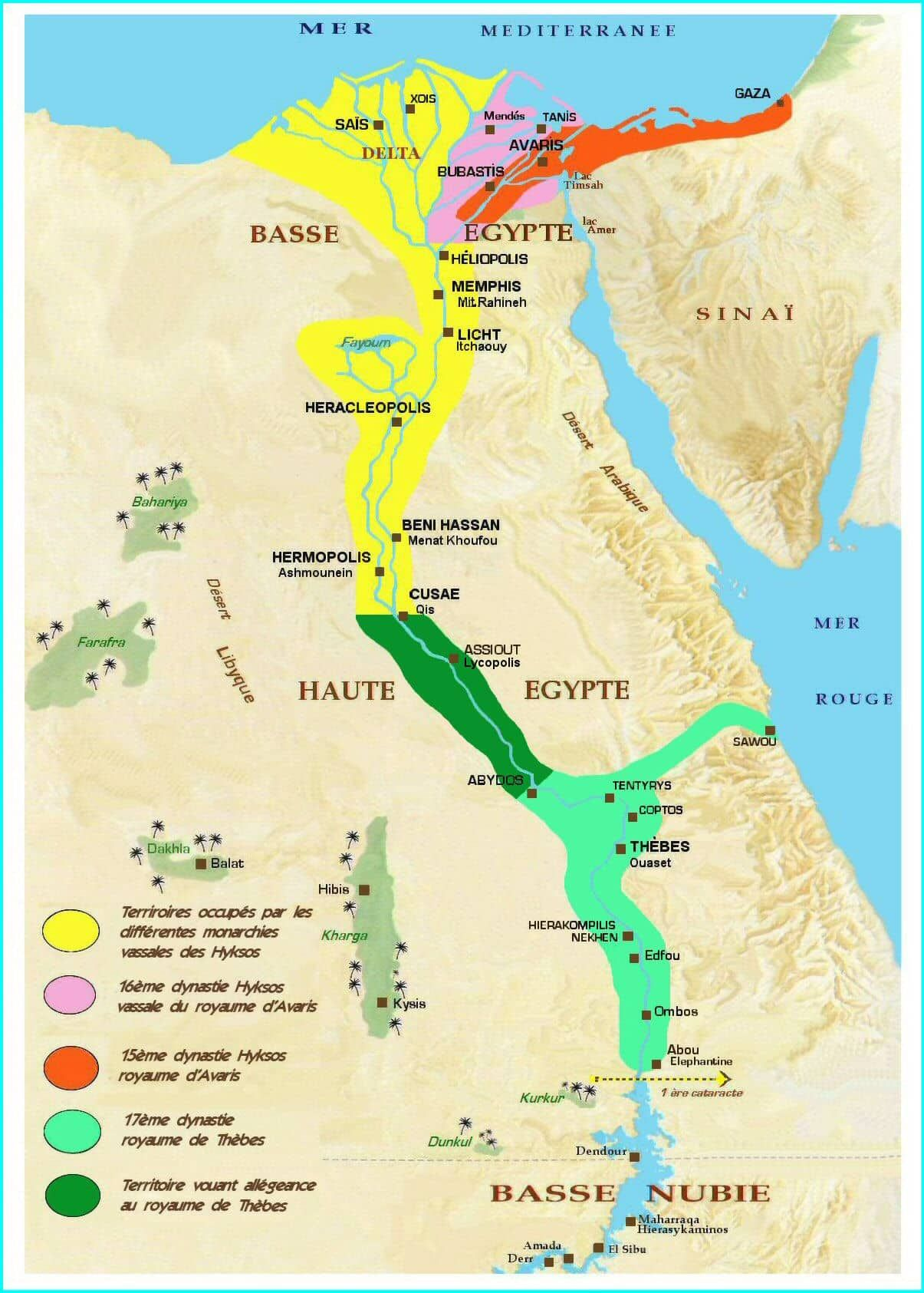 Hyksos Invaders Ancient Egypt Map