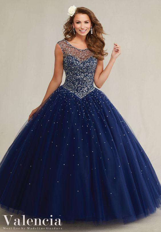 Vestidos azul noche de 15