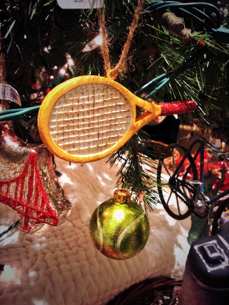 Pottery barn christmas ornaments - Pottery Barn Tennis Christmas Tree Ornament