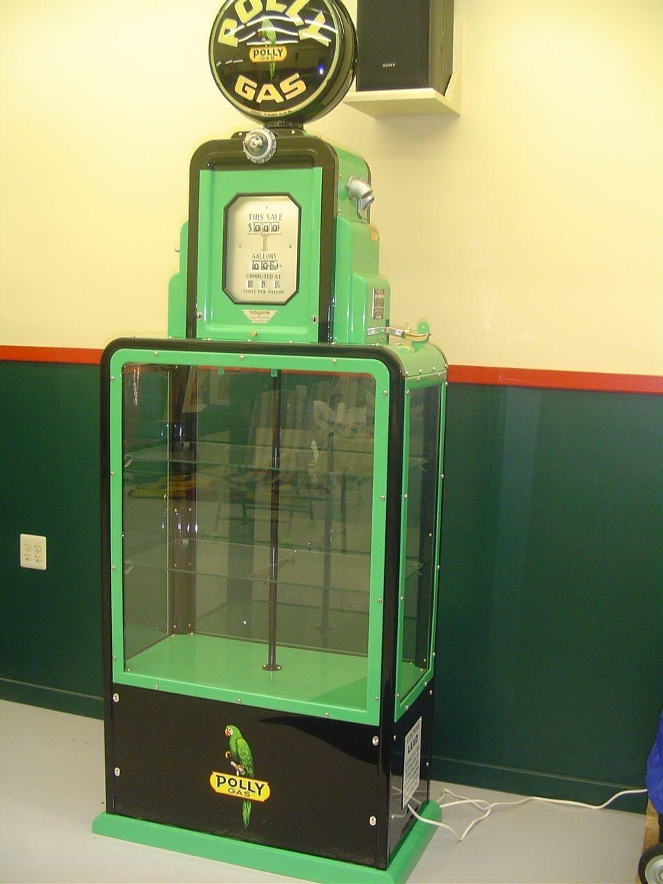 Rare Polly Showcase Gas Pump I restored Vintage gas