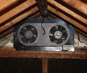 450 Cfm Gable Exhaust Attic Fan Attic Fan Attic Ventilation Attic