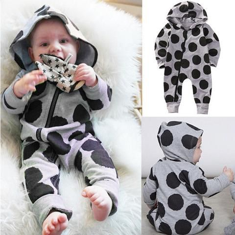 Newborn Boy Baby Girl Outfit Hooded Romper Long Sleeve Baby Boys Clothing Zip Jumpsuit Harem Pants Bodysuits & One-pieces Boys' Baby Clothing