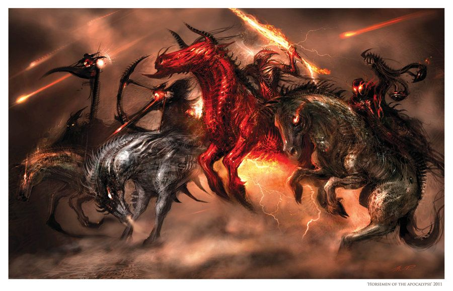 Four Horsemen of the Apocalypse by AlexRuizArt.deviantart.com on @deviantART