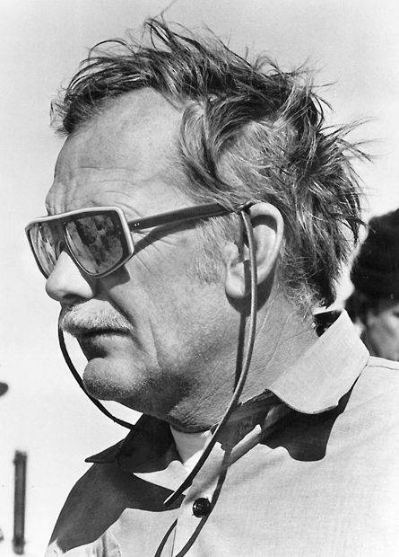 "Sam Peckinpah on the set of ""Pat Garrett & Billy the Kid"" 1973."