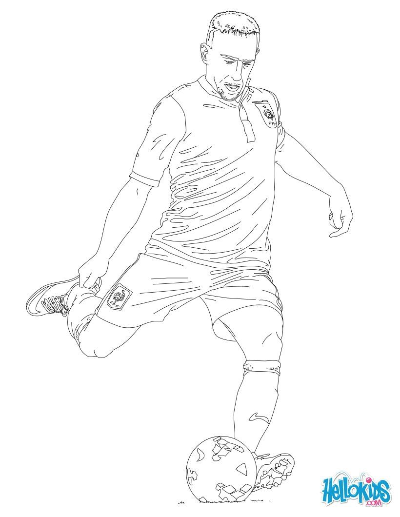 Soccer Players Coloring Pages Franck Ribery Coloring Pages Football Coloring Pages Baseball Coloring Pages
