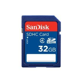 SanDisk 32GB SDHC Flash Memory Card (SDSDB-032G-B35), (sandisk, 32gb sdhc, blueproton, securedigital cards)