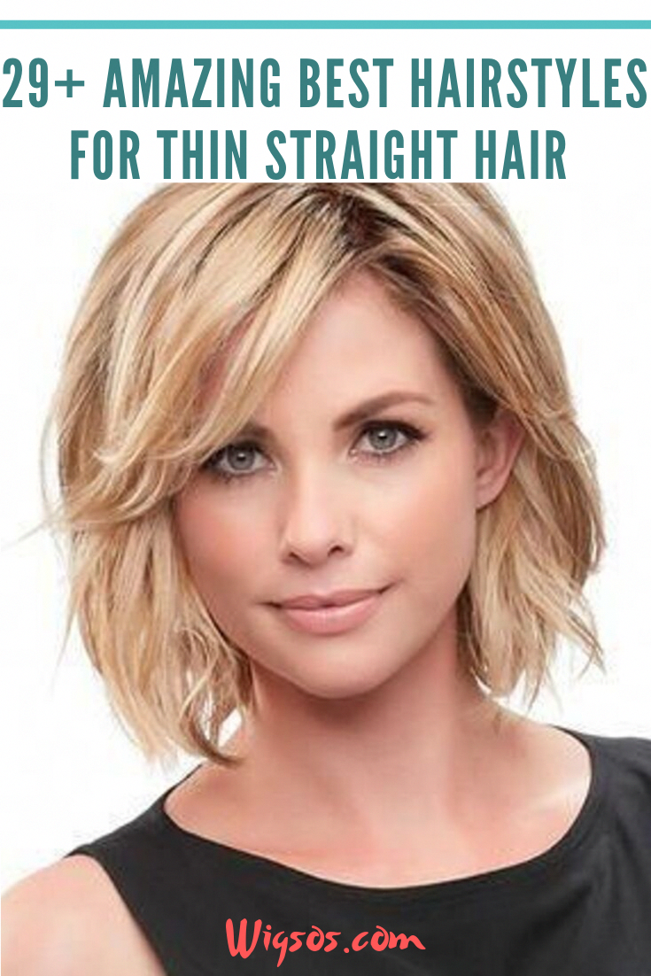 29 Amazing Best Hairstyles For Thin Straight Hair In 2020 Thin Straight Hair Straight Hairstyles Cool Hairstyles