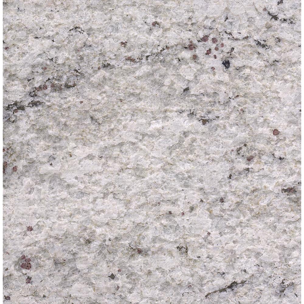 Stonemark 3 In X 3 In Granite Countertop Sample In Cotton White